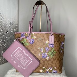 Coach Reversible City Tote in Lily Print